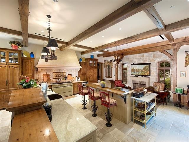 Kitchen in Texas mansion