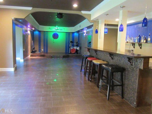Home disco in basement