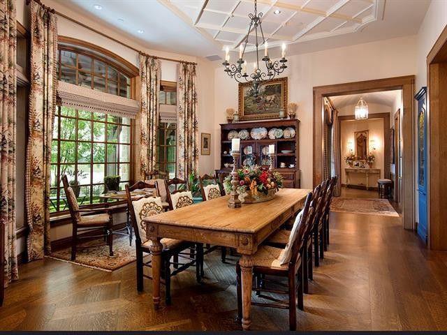 Dining room in Westlake, TX mansion