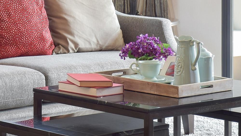 interior living room tray