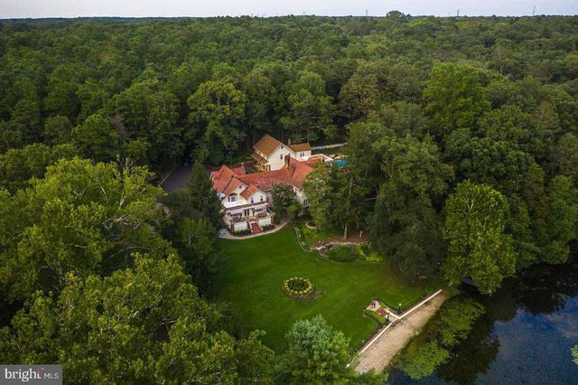 Overhead view of country estate in Berlin, NJ