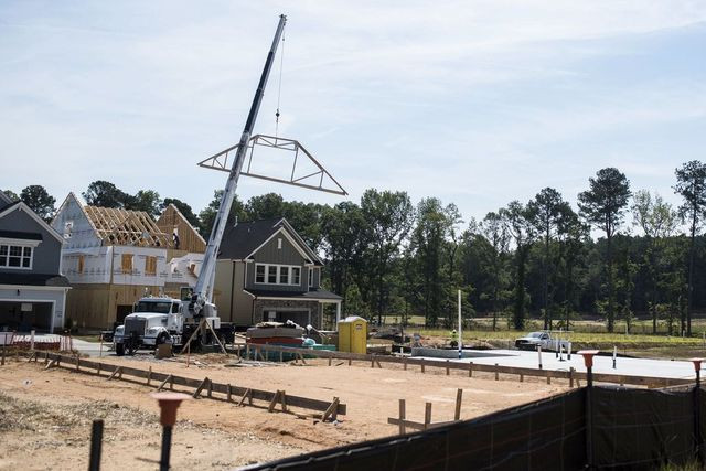A new residential development in Apex, N.C.