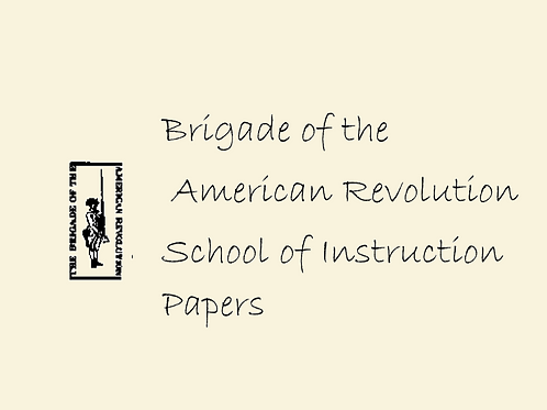 School of Instruction Papers