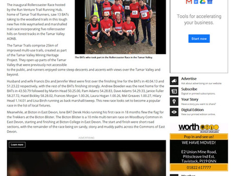 Rollercoaster press coverage, Tavistock Times