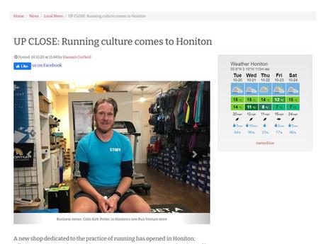 Running culture comes to Honiton, Honiton Nub News