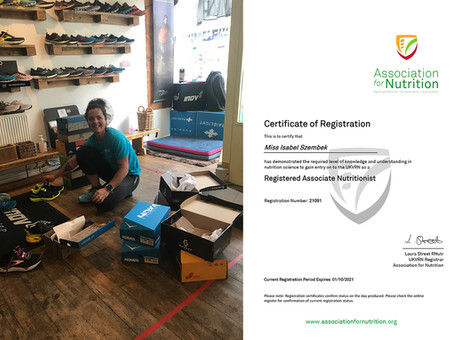 RV is delighted to announce that Izzy Szembek is now registered with the Association for Nutrition