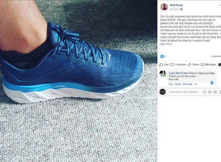 """If anyone's thinking of getting their running gait analysed, I couldn't recommend these guys more!"""