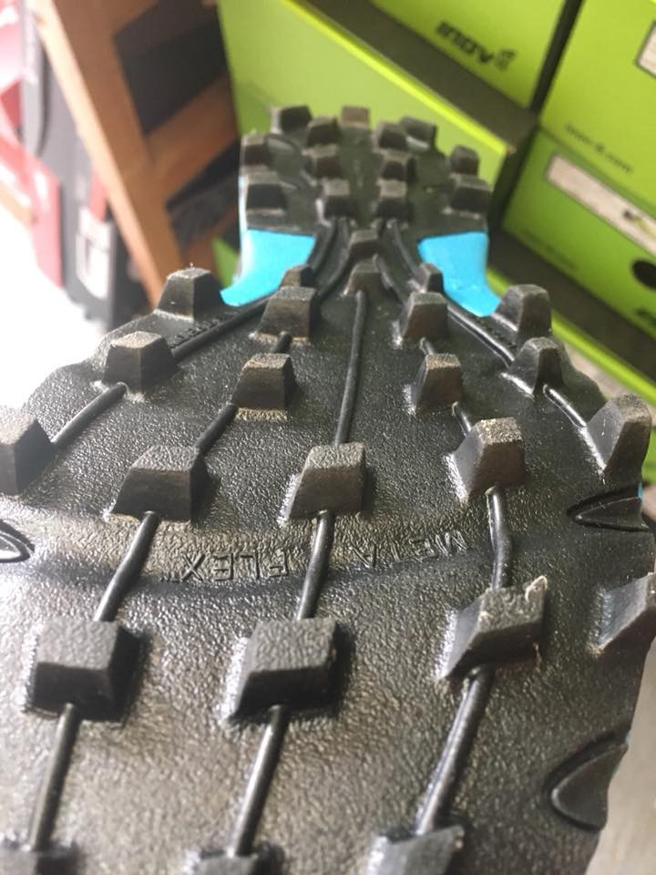 Some shoes have aggressive lugs to bite into soft mud