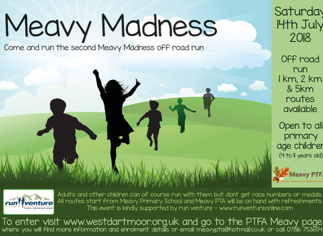 Run Venture is proud to support Meavy Madness off-road run for children