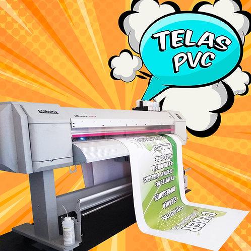 Tela PVC impresa / 0,50x0,50 mts.
