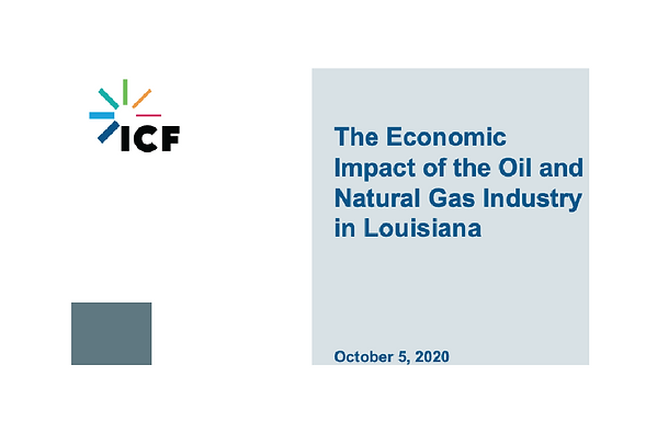 The Economic Impact of the Oil and Natural Gas Industry in Louisiana