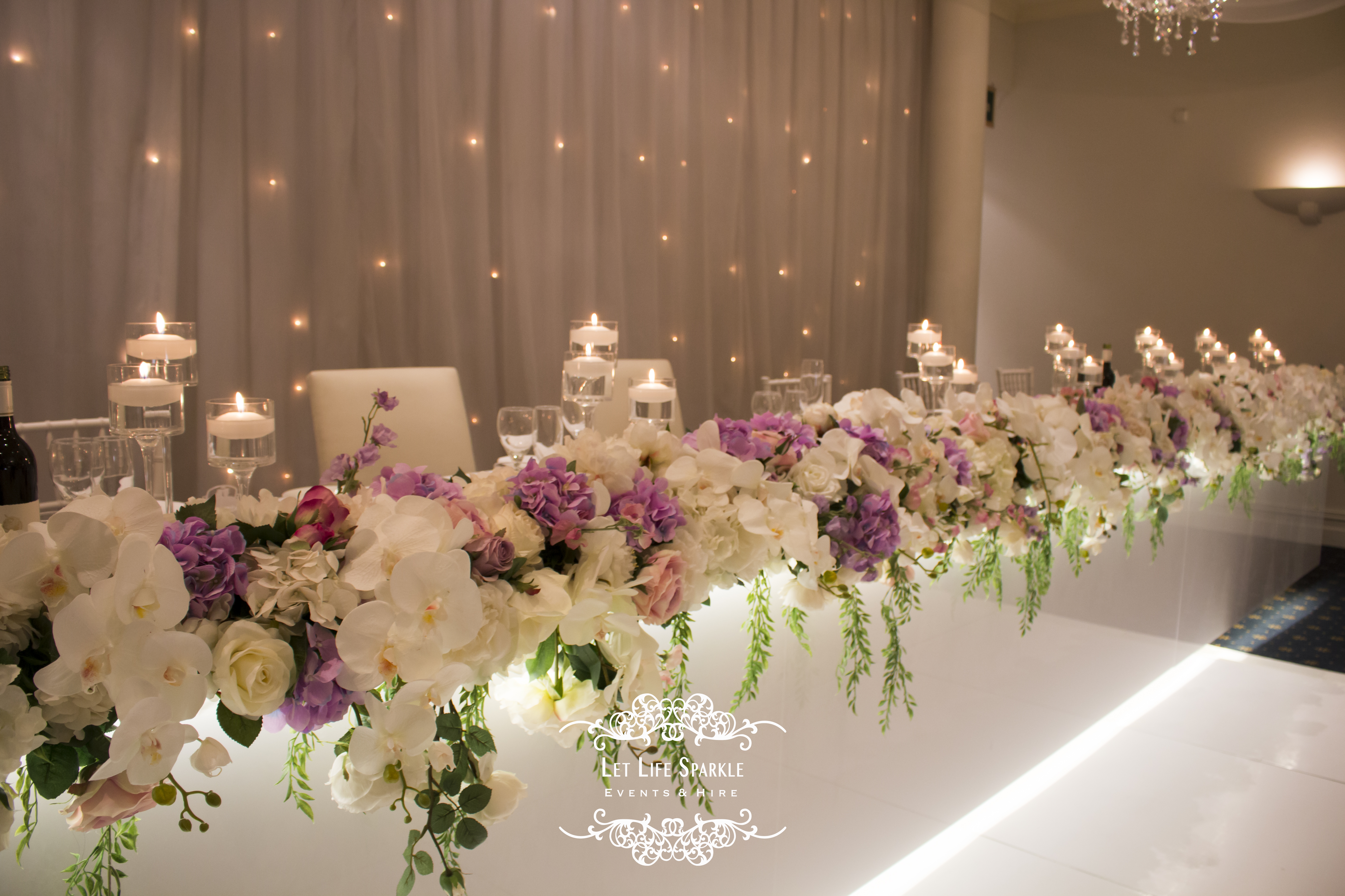 Kelly Floral Main Table Wedding Runner
