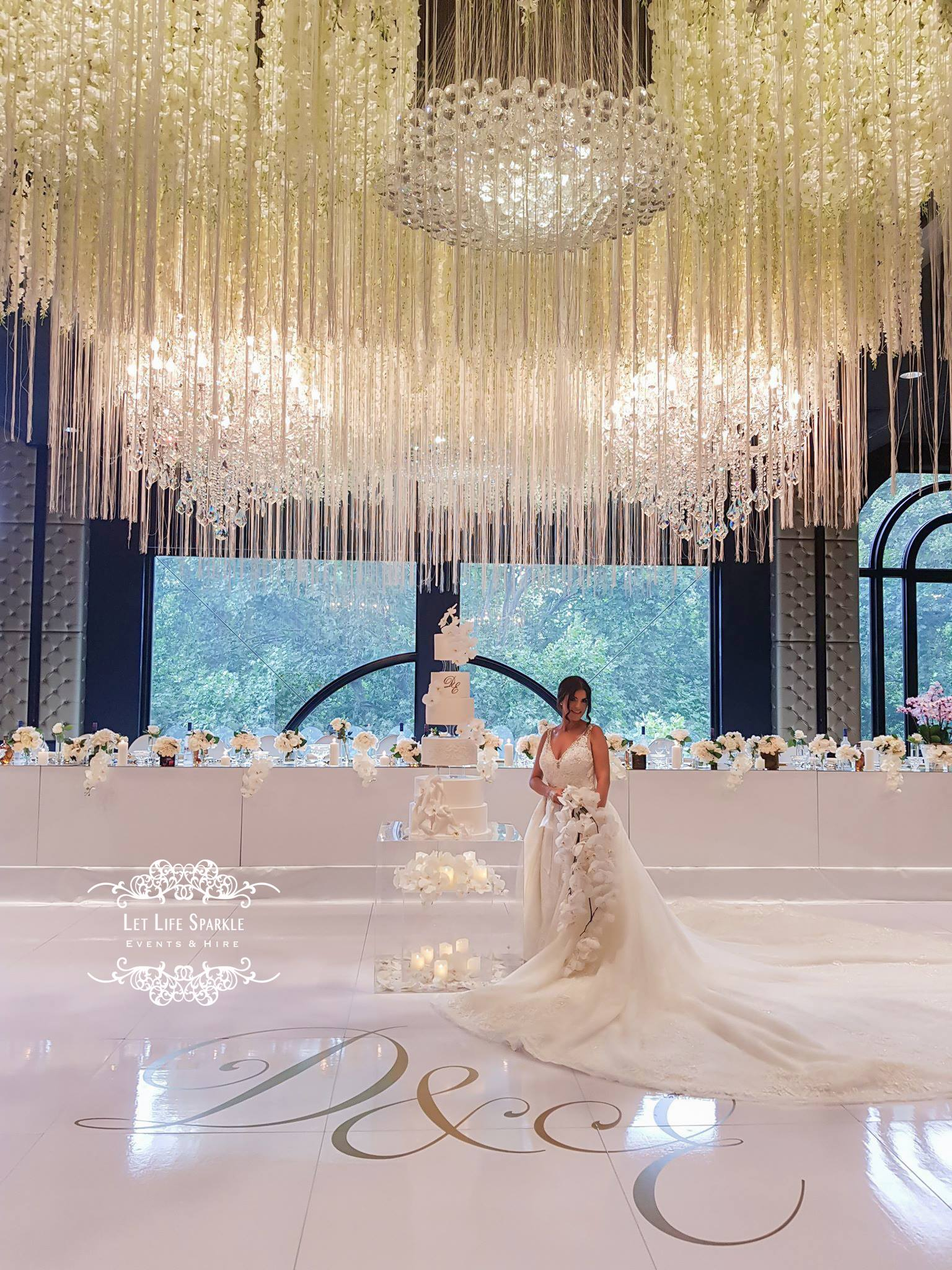 Tassel and Wisteria Ceiling Wedding Inst