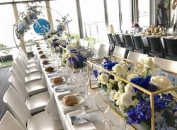 Gold and Blue King Table Centrepiece