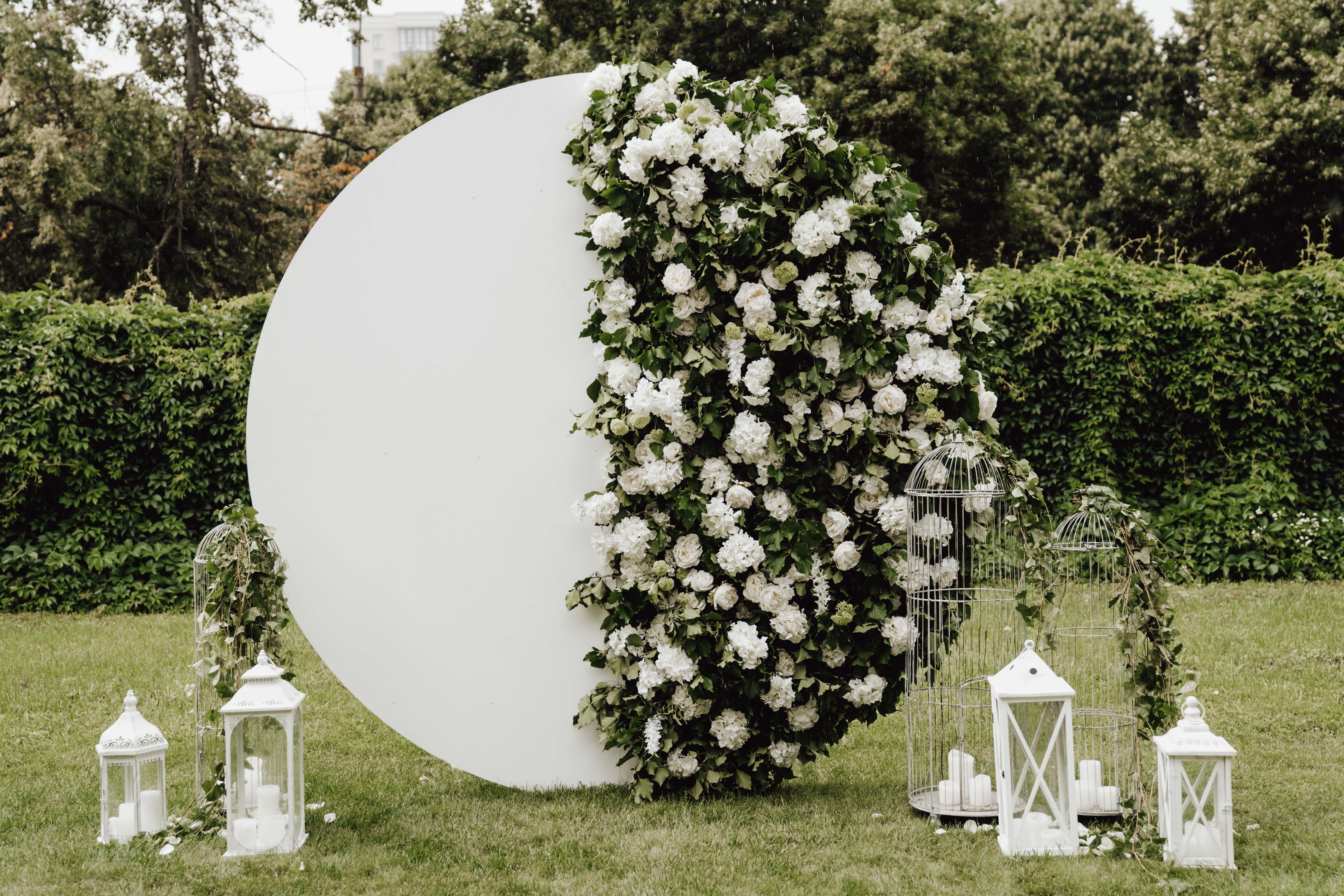 Round Garden Backdrop