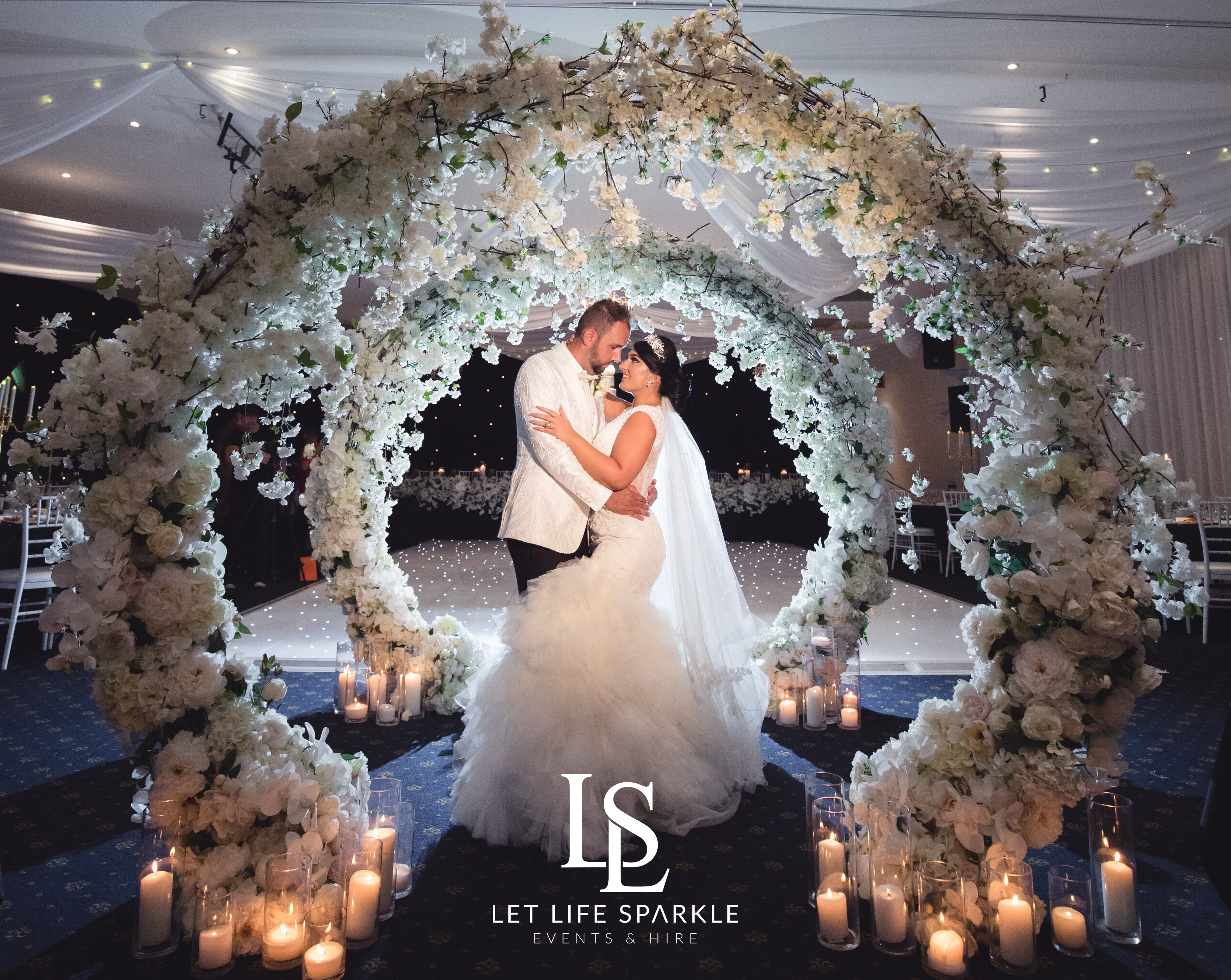 Snow White Entry Floral Arches