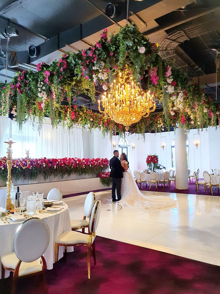 ceiling installation foliage canopy