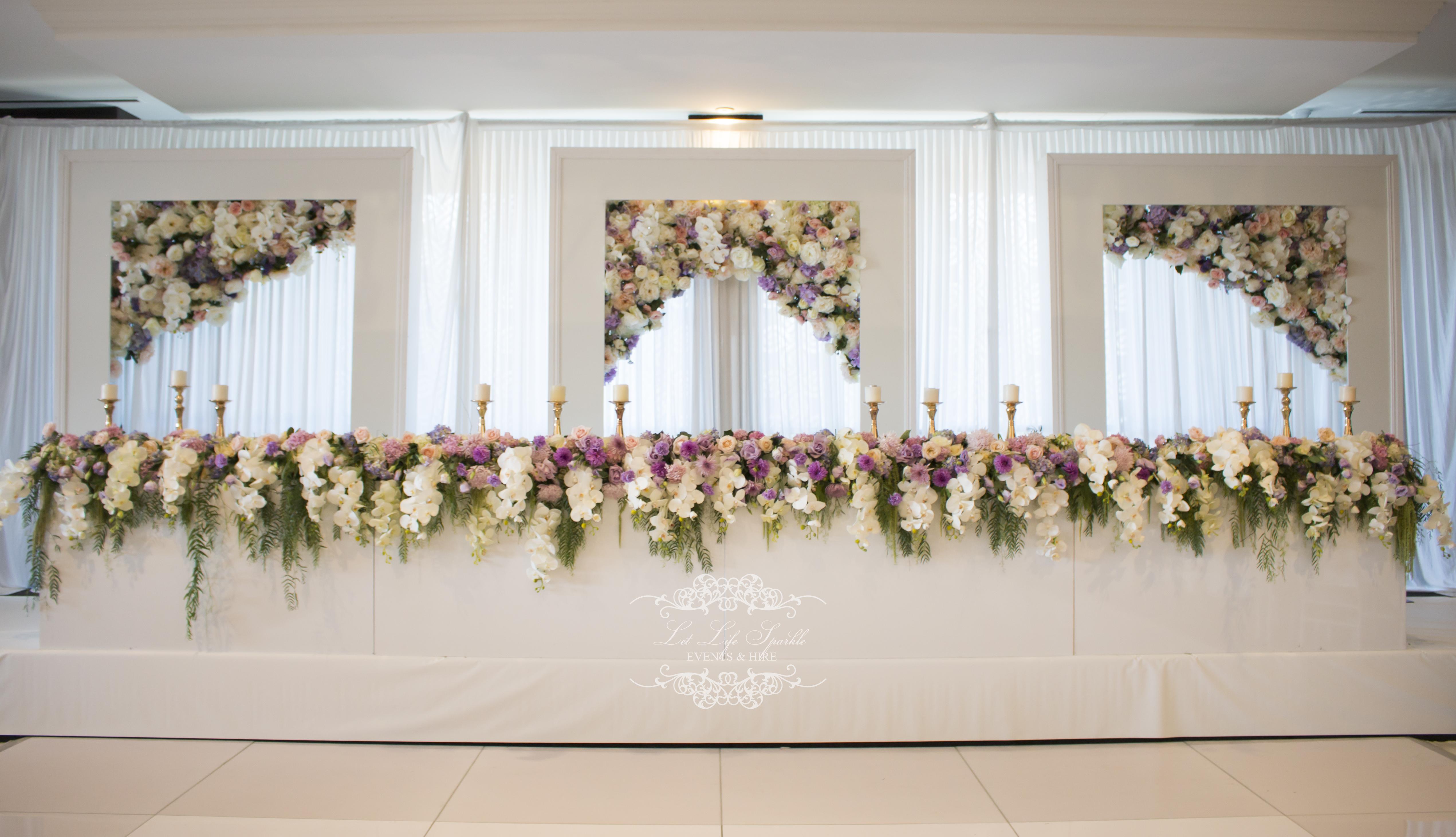 White Frame Floral Backdrop