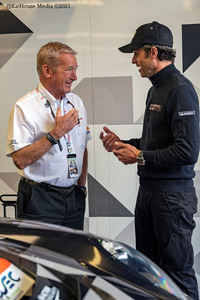 Hurley Haywood and Patrick Dempsey at the 24 Hours of Le Mans