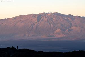 Mauna Kea Observatory from Mauna Loa