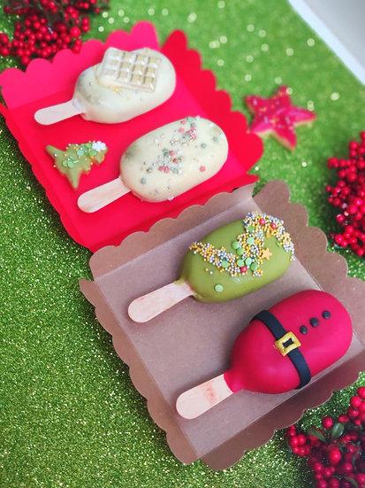 Caja cakepop Navidad