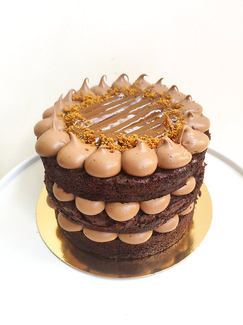 Naked Cake Chocolate y dulce de leche
