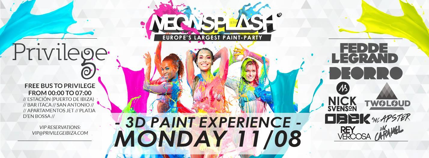 Neon Splash Flyer August 11