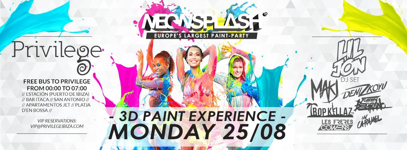Neon Splash Flyer August 25