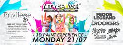 Neon Splash Flyer July 21