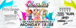 Neon Splash Flyer August 18