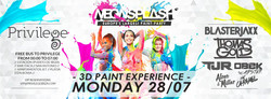 Neon Splash Flyer July 28
