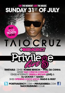 Privilege Live! Taio Cruz