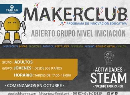 Grupos Iniciación - MAKER CLUB curso 2020