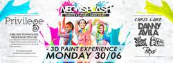 Neon Splash Flyer June 30
