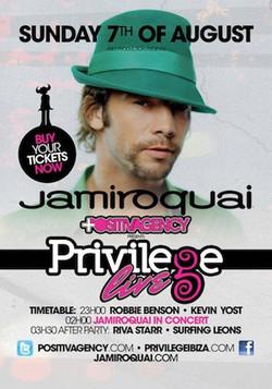Privilege Live! JamiroQuai Flyer