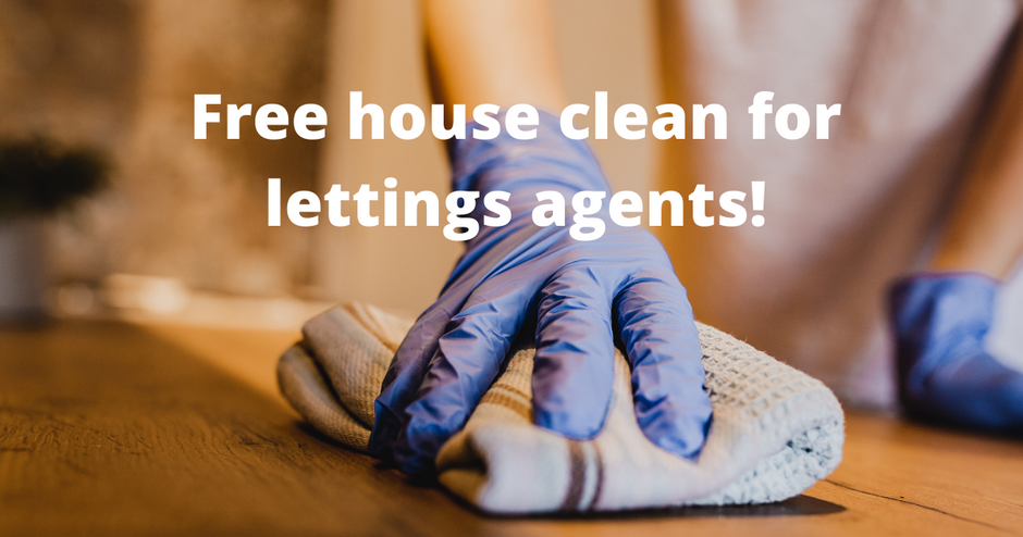 Free house clean for lettings agents and property managers (T&Cs)
