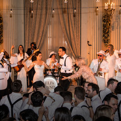"""""""My husband and I got married in January and we had Eli's Band play for both the ceremony and the reception. They were absolutely incredible!! We had a multicultural wedding and needed music from so many genres (Spanish, Arabic, orthodox Jewish, modern Israeli and English music) and they seamlessly transitioned through them all. Our guests were absolutely blown away!! We obviously knew Eli and Alisa were awesome when we hired them but I can't tell you how grateful we are for the incredible party they kept going all night. They know their crowd and knew exactly what to play and when. For the ceremony, Eli sang a mix of original songs he wrote and songs we had requested. His voice captivates the room and created something truly special for us. Everyone had goosebumps. Everyone at the party LOVED our band and some of our friends have even booked them already for their own events. Can't wait to be invited to a party they're performing at!"""" - STEPHANIE & ELIOTT - Biltmore Hotel, Downtown LA"""