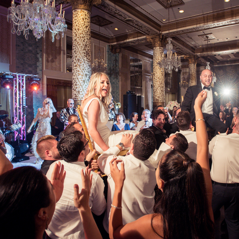 """The most incredible band out there! We hired them for our wedding in Chicago and their performance surpassed anything we could have ever imagined! If you're looking for high energy, passion, and the most incredible singers/instrumentals out there - HIGHLY recommended. Best band I have ever seen - 15 out of 10 stars. Love you guys!"" - TALI & ALLEN - Drake Hotel, Chicago IL"
