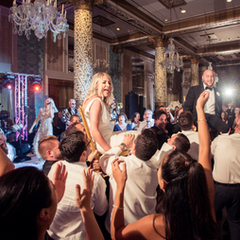"""""""The most incredible band out there! We hired them for our wedding in Chicago and their performance surpassed anything we could have ever imagined! If you're looking for high energy, passion, and the most incredible singers/instrumentals out there - HIGHLY recommended. Best band I have ever seen - 15 out of 10 stars. Love you guys!"""" - TALI & ALLEN - Drake Hotel, Chicago IL"""