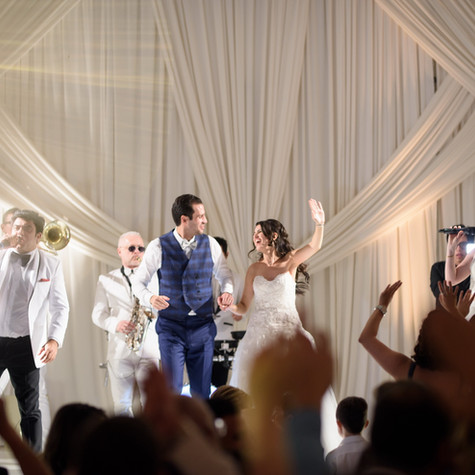 """Eli's Band is THE ABSOLUTE BEST!!!!!!! They made our wedding SO SO fun. I lost track of how many people approached us AT our wedding and AFTER telling us how amazing the band was. Every member is incredibly talented, fun, energetic, professional, and wonderful to work with. Alisa and Eli understood exactly what we were looking for, and they picked up on the vibe of our wedding and guests so well - song after song was a hit. Eli sang to open our wedding ceremony and it was breathtaking and deeply moving. Alisa (the band's manager) is SO kind and professional - it was an absolute pleasure to work with her (and she has a beautiful voice!!). We really love Eli's Band. Amazing band and people."" - JACKIE & LEV - Los Angeles, CA"