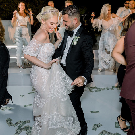"""First, I got to start off by saying Eli's band is the best band in Los Angeles!! They made our wedding so magical. The band sings everything Latin, Russian, Italian, Arabic and much more. They customize their packages to your needs. They are all about making their clients happy. Eli and Alisa sang ""The Prayer"" and ""Can you Feel the Love Tonight"" during our ceremony;  it gave us all goosebumps. Most importantly, Eli was able to sing our song  ""I love you baby"" for the first dance. My husband and I are both American, but our parents are from Armenia. We wanted to keep our guests happy by having Armenian music but we also wanted the international vibes since we both love all types of music.  We were a bit nervous but Alisa's organization and Eli's down to earth manners made us feel so comfortable. The way the band meshed the Armenian music with the other international music was so amazing! Our wedding was an outdoor August wedding so you could already imagine what the weather was like. During the night it was in mid 70's, yet this did not stop the band from jamming and moving in the humidity and heat. It has been over a month since our wedding and our guests are still RAVING about the band! If you are looking for the best band in town who will make your night the BEST NIGHT OF YOUR LIFE give them a call!! Thank you to Eli's band!"" - JANET & ANDY - Hummingbird Nest Ranch, Simi Valley CA"
