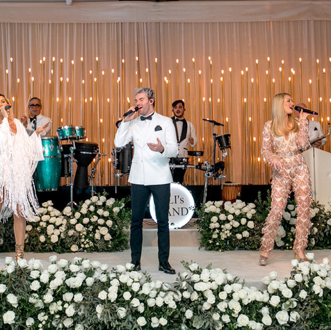 """The best!!!! We had them for our wedding and they were amazing. They really put their heart and soul into what they do and it shows. They know how to keep your party going and can play ALL genres of music. It is shocking! We had Farsi, Hebrew,  English and Spanish and my friends thought that J. Balvin himself was singing the songs on stage. That's how good they are! There is nobody better. Really. They have the best suggestions for music, they are open to working with you and hearing your suggestions, and their sound quality is perfect. We have been to soooo many weddings where the sound was off and it ruins the party. Eli and his band are true professionals and we are SOOO grateful that they played at our wedding!"" - LIMORE & ERAJ - Ritz Carlton Laguna Niguel, OC"