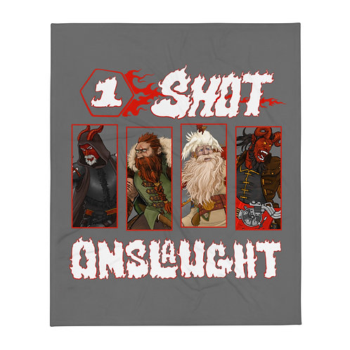 One-shot Onslaught Throw Blanket