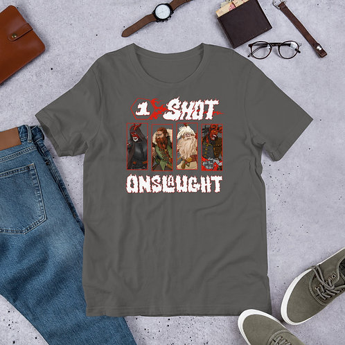 One-shot Onslaught Short-Sleeve Unisex T-Shirt (Bella + Canvas)