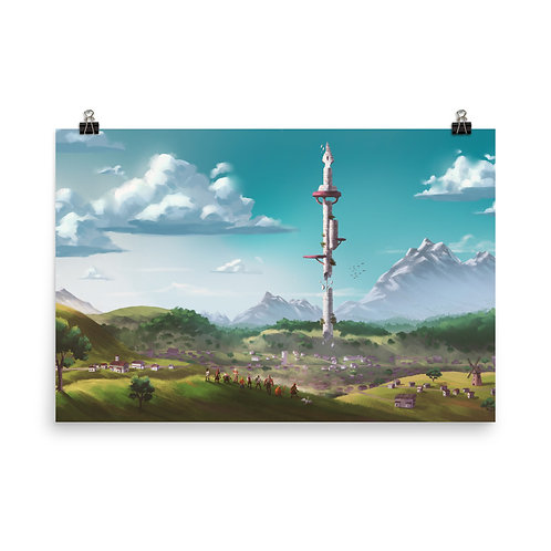 Long Boi Tower Photo paper poster