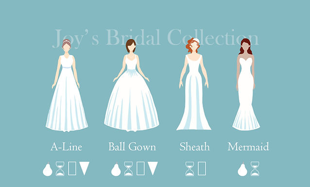 Joy's Bridal Collection Wedding Dress Types
