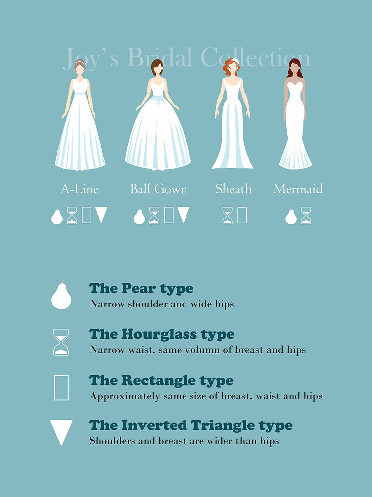 Joy's Bridal Collection fitting guide