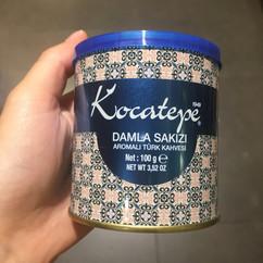 Kocatepe'den damla sakızlı Türk kahvesi, afiyet olsun yanında falaadin uygulaması ile eğleniyoruz yeni bir lezzet deniyoruz afiyet olsun
