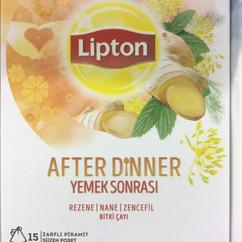 Lipton yemekten sonra içilmek üzere yeni bir bitki çayı çıkarmış.