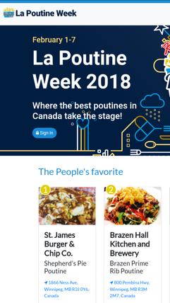 First Place 2018 La Poutine Week